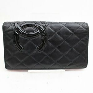Auth Chanel Cambon Long Wallet #2780C32B